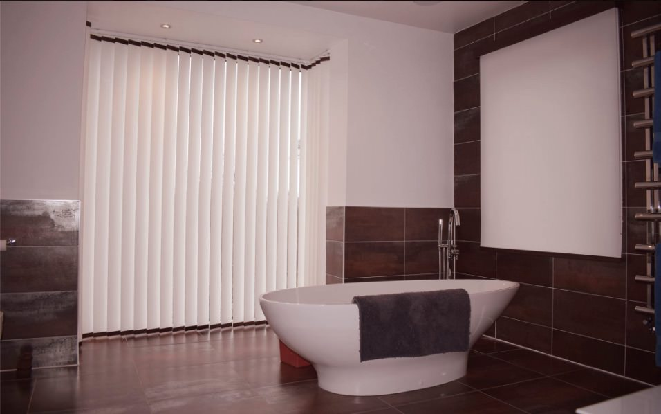 Vertical blinds in a bathroom in Nottingham