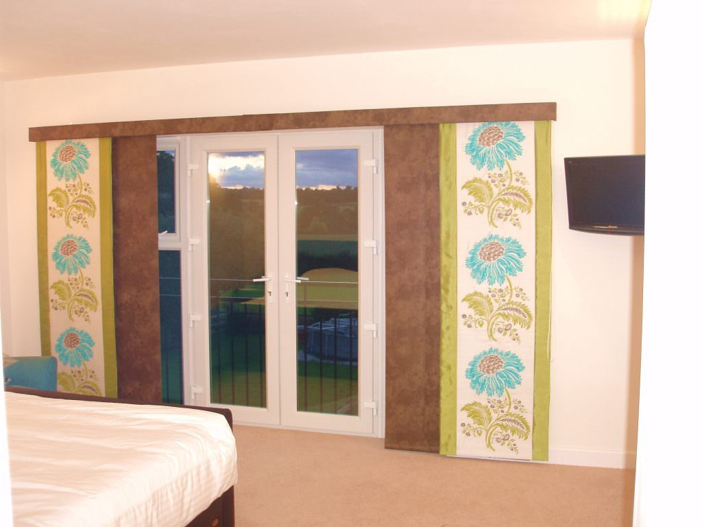 Patterned Bespoke Curtain Panel Blind company Nottingham