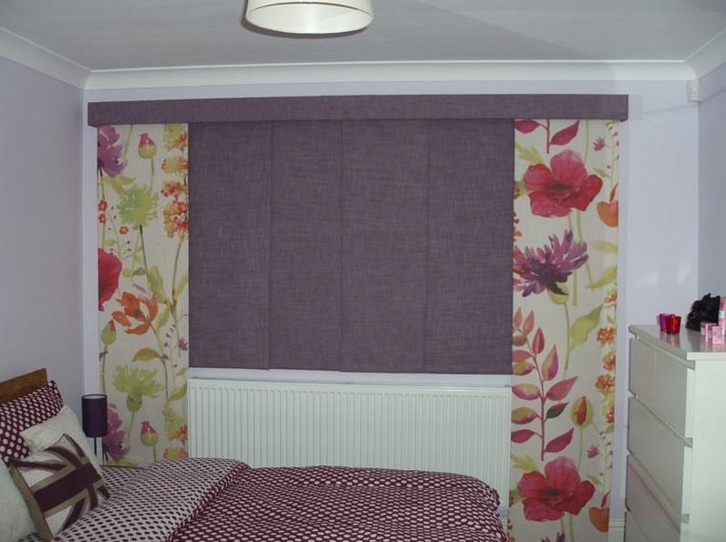 Flowered Bespoke Curtain Panel Blind company Nottingham