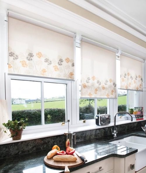 Flowered Kitchen Roller Blinds Blind Company Nottingham