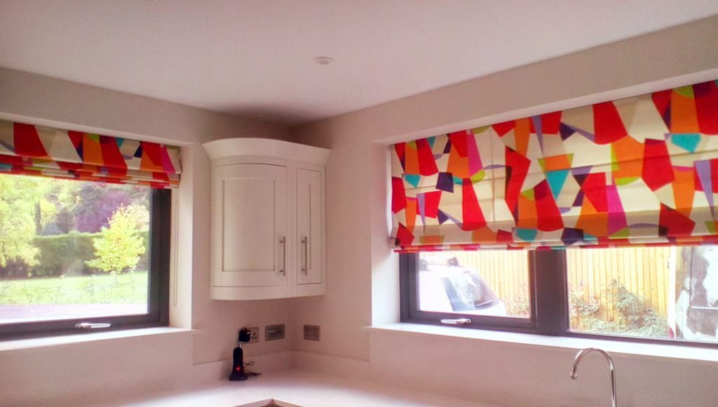 Patterned Roman Blinds Blind Company Nottingham