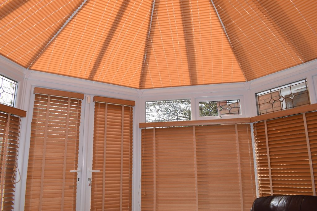 Conservatory Pleated and Timber Blinds Blind Company Nottingham