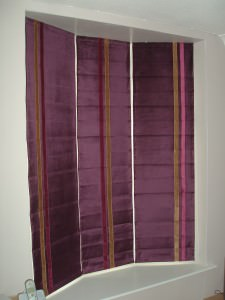 Purple Roman Blinds Blind Company Nottingham