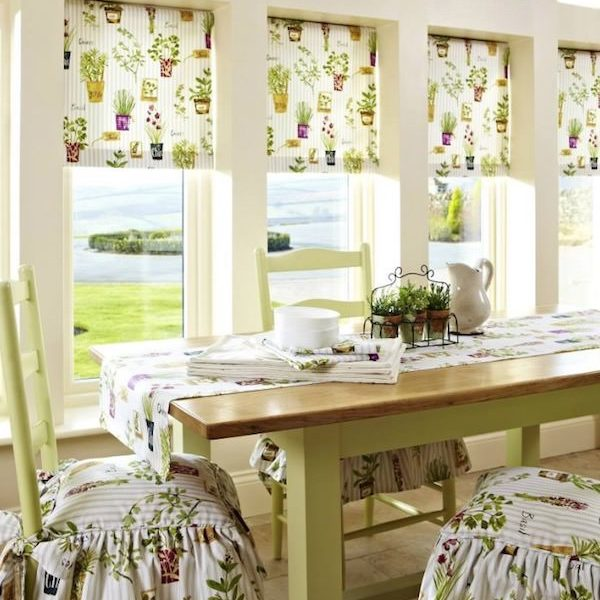 Kitchen Flowered Design Roller Blinds Blind Company Nottingham